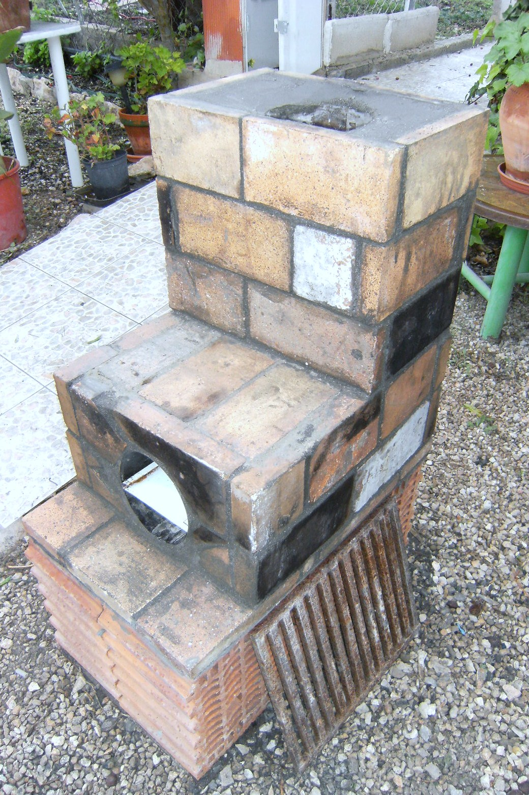 Making A Simple Rocket Stove With All Natural Materials Plumbing Diagram